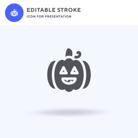 Halloween icon vector, filled flat sign, solid pictogram isolated on white, logo illustration. Halloween icon for presentation.