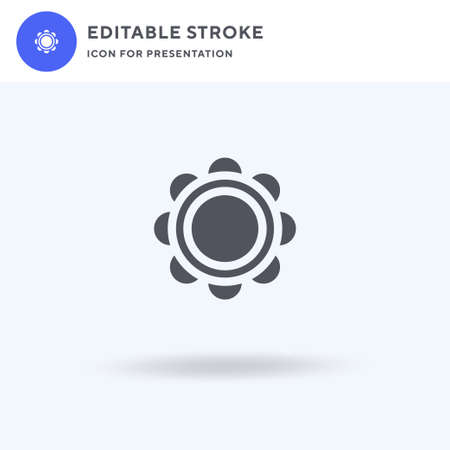 Tambourine icon vector, filled flat sign, solid pictogram isolated on white, logo illustration. Tambourine icon for presentation.