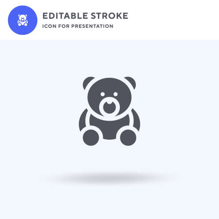 Bear icon vector, filled flat sign, solid pictogram isolated on white, logo illustration. Bear icon for presentation. Vettoriali