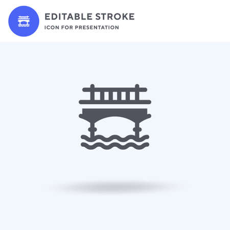 Tower Bridge icon vector, filled flat sign, solid pictogram isolated on white, logo illustration. Tower Bridge icon for presentation.