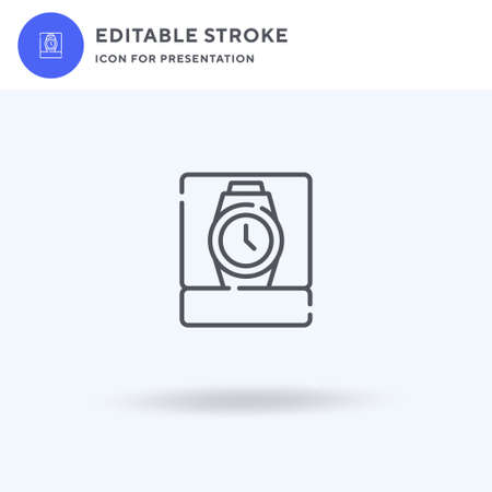 Wrist Watch icon vector, filled flat sign, solid pictogram isolated on white, logo illustration. Wrist Watch icon for presentation.