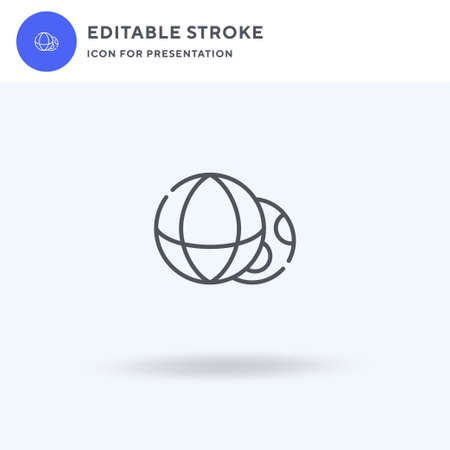 Balls icon vector, filled flat sign, solid pictogram isolated on white,  illustration. Balls icon for presentation. Illusztráció