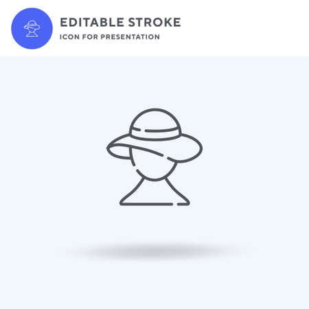 Hat icon vector, filled flat sign, solid pictogram isolated on white, logo illustration. Hat icon for presentation.