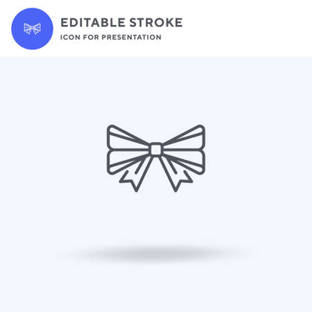 Bow Tie icon vector, filled flat sign, solid pictogram isolated on white,  illustration. Bow Tie icon for presentation.