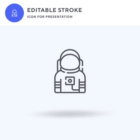 Astronaut icon vector, filled flat sign, solid pictogram isolated on white,  illustration. Astronaut icon for presentation. Illusztráció