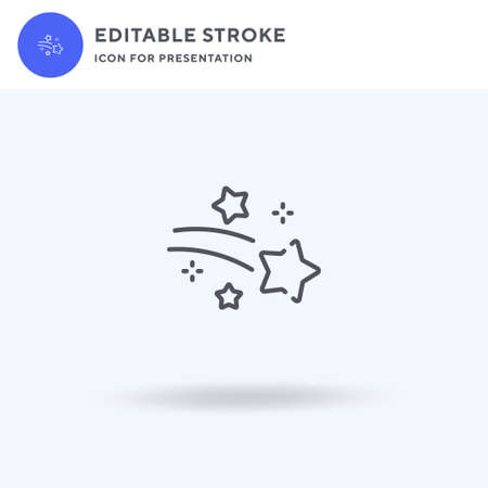 Shooting Star icon vector, filled flat sign, solid pictogram isolated on white,  illustration. Shooting Star icon for presentation. Illustration
