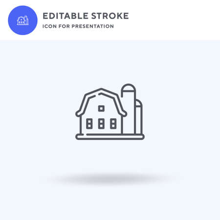 Barn icon vector, filled flat sign, solid pictogram isolated on white,  illustration. Barn icon for presentation.  イラスト・ベクター素材