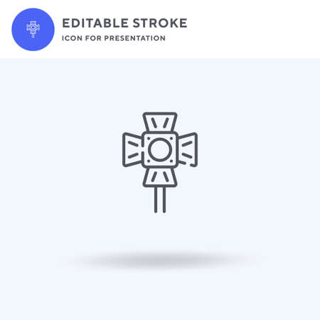 Spotlight icon vector, filled flat sign, solid pictogram isolated on white, logo illustration. Spotlight icon for presentation.