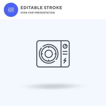 Electric Stove icon vector, filled flat sign, solid pictogram isolated on white,  illustration. Electric Stove icon for presentation. 일러스트