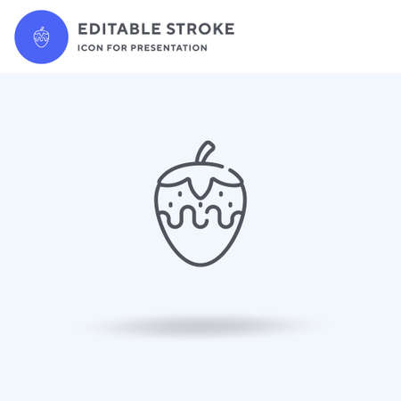Strawberry icon vector, filled flat sign, solid pictogram isolated on white,  illustration. Strawberry icon for presentation.