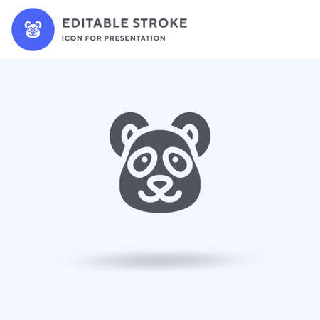 Panda icon vector, filled flat sign, solid pictogram isolated on white,  illustration. Panda icon for presentation.