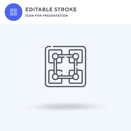 Blockchain icon vector, filled flat sign, solid pictogram isolated on white,  illustration. Blockchain icon for presentation.  イラスト・ベクター素材