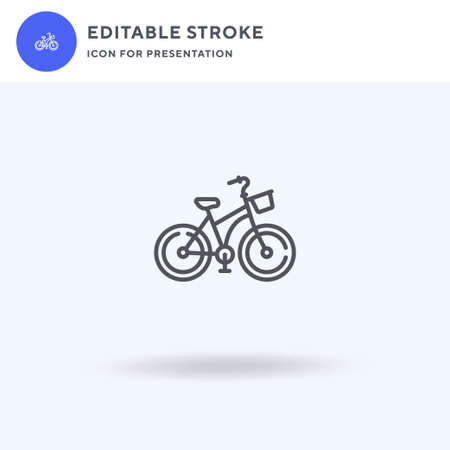 Bicycle icon vector, filled flat sign, solid pictogram isolated on white,  illustration. Bicycle icon for presentation. Illustration