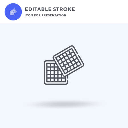 Waffle icon vector, filled flat sign, solid pictogram isolated on white,  illustration. Waffle icon for presentation.
