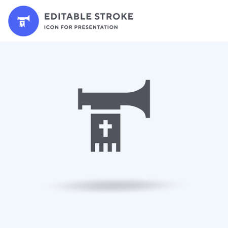 Trumpet icon vector, filled flat sign, solid pictogram isolated on white, logo illustration. Trumpet icon for presentation.