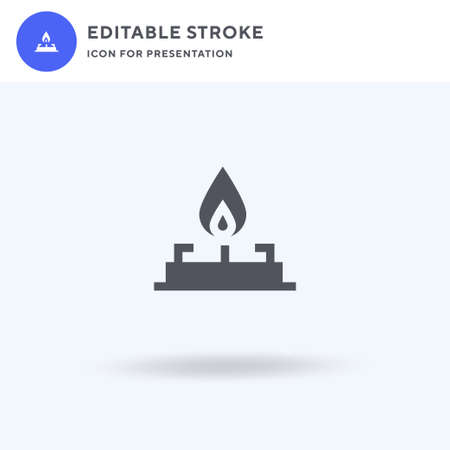 Stove icon vector, filled flat sign, solid pictogram isolated on white, logo illustration. Stove icon for presentation. 일러스트