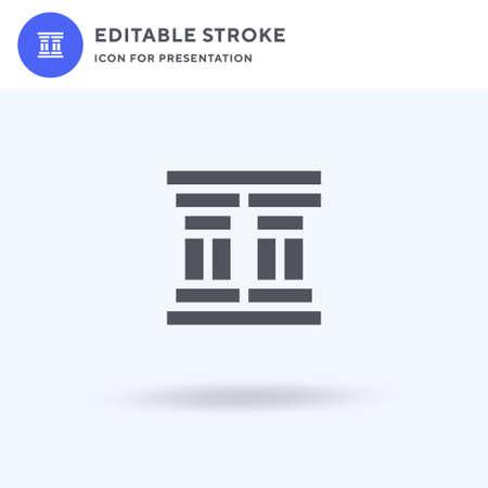 Column icon vector, filled flat sign, solid pictogram isolated on white, logo illustration. Column icon for presentation. Illusztráció