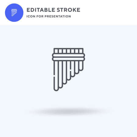 Pan Flute icon vector, filled flat sign, solid pictogram isolated on white, logo illustration. Pan Flute icon for presentation.