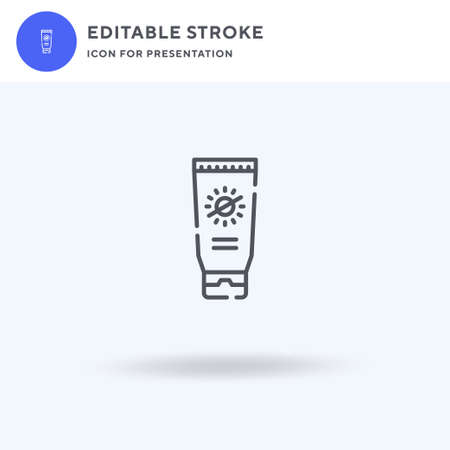 Sunblock icon vector, filled flat sign, solid pictogram isolated on white, logo illustration. Sunblock icon for presentation.