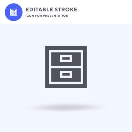 Archive icon vector, filled flat sign, solid pictogram isolated on white, logo illustration. Archive icon for presentation. Vectores