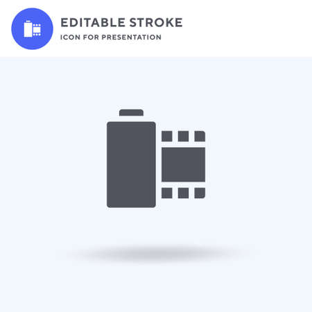 Camera Roll icon vector, filled flat sign, solid pictogram isolated on white, logo illustration. Camera Roll icon for presentation. Ilustração