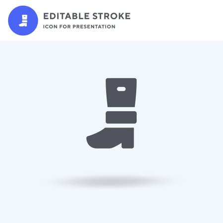 Boots icon vector, filled flat sign, solid pictogram isolated on white, logo illustration. Boots icon for presentation.