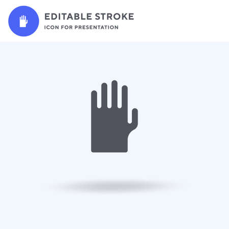 Gloves icon vector, filled flat sign, solid pictogram isolated on white, logo illustration. Gloves icon for presentation.