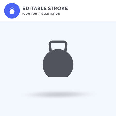Kettlebell icon vector, filled flat sign, solid pictogram isolated on white, logo illustration. Kettlebell icon for presentation.