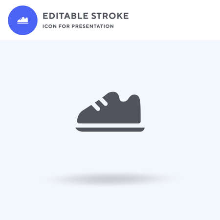 Shoes icon vector, filled flat sign, solid pictogram isolated on white, logo illustration. Shoes icon for presentation. 向量圖像