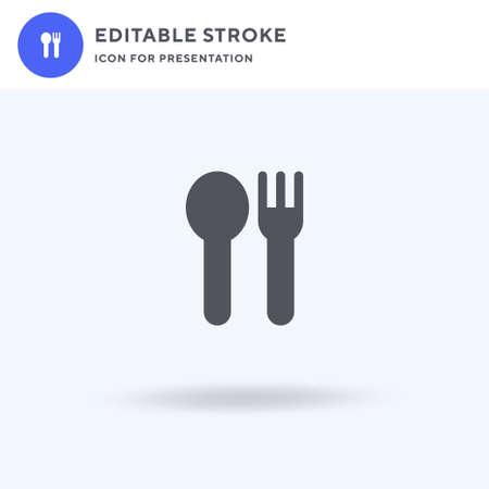 Cutlery icon vector, filled flat sign, solid pictogram isolated on white, logo illustration. Cutlery icon for presentation. 일러스트