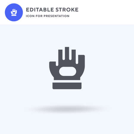 Glove icon vector, filled flat sign, solid pictogram isolated on white, logo illustration. Glove icon for presentation.