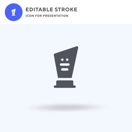 Trophy icon vector, filled flat sign, solid pictogram isolated on white, logo illustration. Trophy icon for presentation. Illusztráció