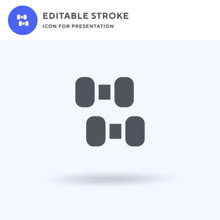 Dumbbell icon vector, filled flat sign, solid pictogram isolated on white, logo illustration. Dumbbell icon for presentation.