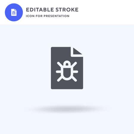 Bug icon vector, filled flat sign, solid pictogram isolated on white, logo illustration. Bug icon for presentation. Ilustrace
