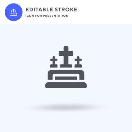 Grave icon vector, filled flat sign, solid pictogram isolated on white, logo illustration. Grave icon for presentation. Иллюстрация