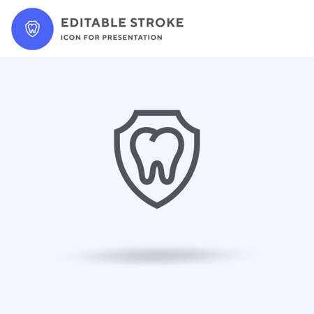 Dental icon vector, filled flat sign, solid pictogram isolated on white, logo illustration. Dental icon for presentation.