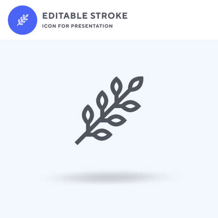 Herb icon vector, filled flat sign, solid pictogram isolated on white, logo illustration. Herb icon for presentation.