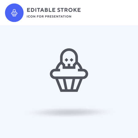 Muffins icon vector, filled flat sign, solid pictogram isolated on white, logo illustration. Muffins icon for presentation. 向量圖像