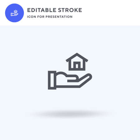 House icon vector, filled flat sign, solid pictogram isolated on white, logo illustration. House icon for presentation. Illustration