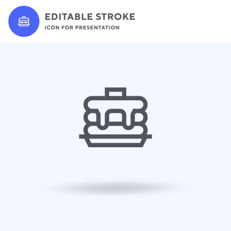 Pancakes icon vector, filled flat sign, solid pictogram isolated on white, logo illustration. Pancakes icon for presentation. 向量圖像