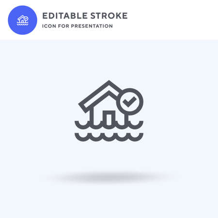 Flood icon vector, filled flat sign, solid pictogram isolated on white, logo illustration. Flood icon for presentation. Stock Illustratie