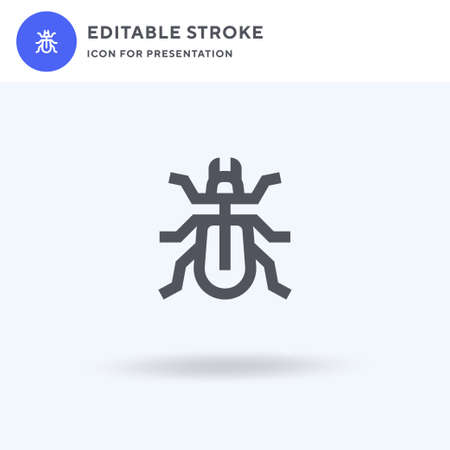 Beetle icon vector, filled flat sign, solid pictogram isolated on white, logo illustration. Beetle icon for presentation. Ilustracja
