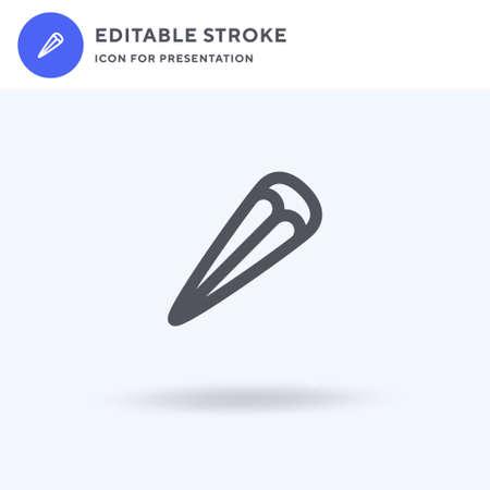Barette icon vector, filled flat sign, solid pictogram isolated on white, logo illustration. Barette icon for presentation.