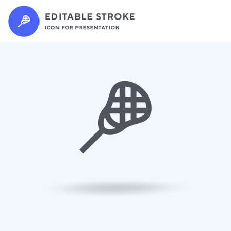 Lacrosse icon vector, filled flat sign, solid pictogram isolated on white, logo illustration. Lacrosse icon for presentation.