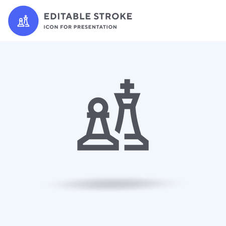 Chess icon vector, filled flat sign, solid pictogram isolated on white, logo illustration. Chess icon for presentation.