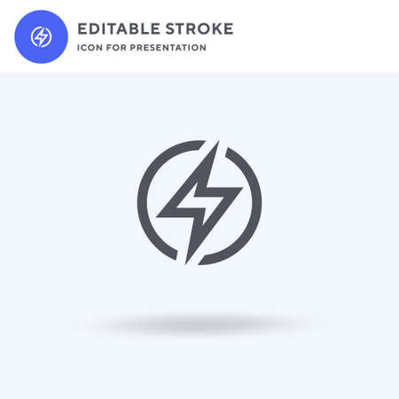 Electricity icon vector, filled flat sign, solid pictogram isolated on white, logo illustration. Electricity icon for presentation.