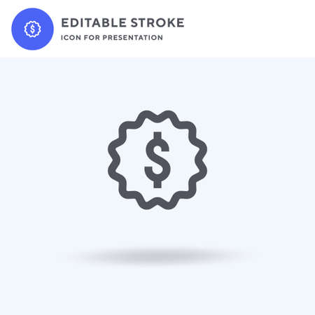 Dollar icon vector, filled flat sign, solid pictogram isolated on white, logo illustration. Dollar icon for presentation.