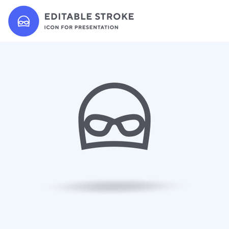 Swimming Hat icon vector, filled flat sign, solid pictogram isolated on white, logo illustration. Swimming Hat icon for presentation.