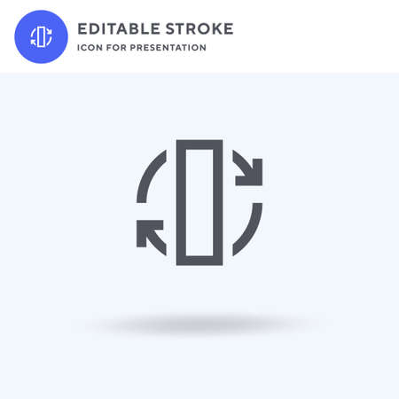 Rotate icon vector, filled flat sign, solid pictogram isolated on white, logo illustration. Rotate icon for presentation. Ilustrace
