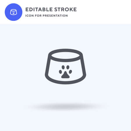 Pet Bowl icon vector, filled flat sign, solid pictogram isolated on white, logo illustration. Pet Bowl icon for presentation. 일러스트
